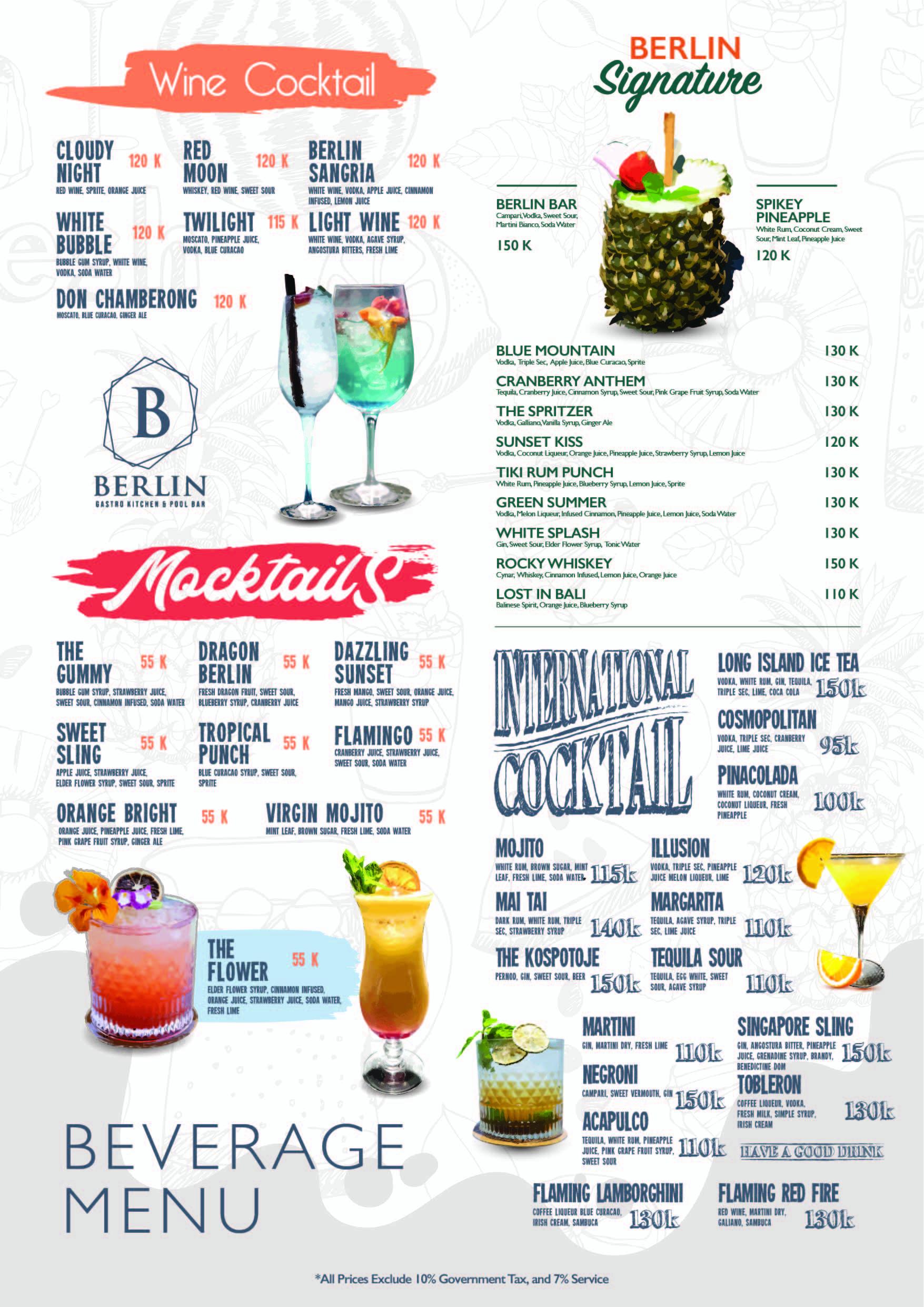 Drink Menu A3-01